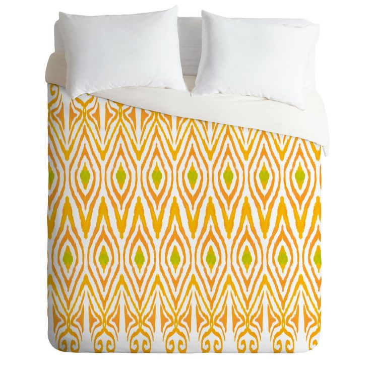 Amy Sia Ikat Tangerine Duvet Cover | DENY Designs Home Accessories