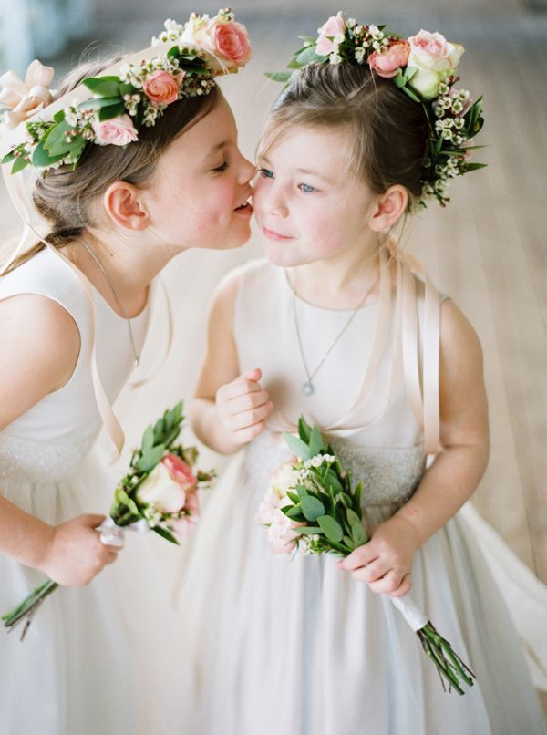 cute flower girls - photo by Shannon Moffit Photography http://ruffledblog.com/irish-mist-wedding-inspiration #flowergirls
