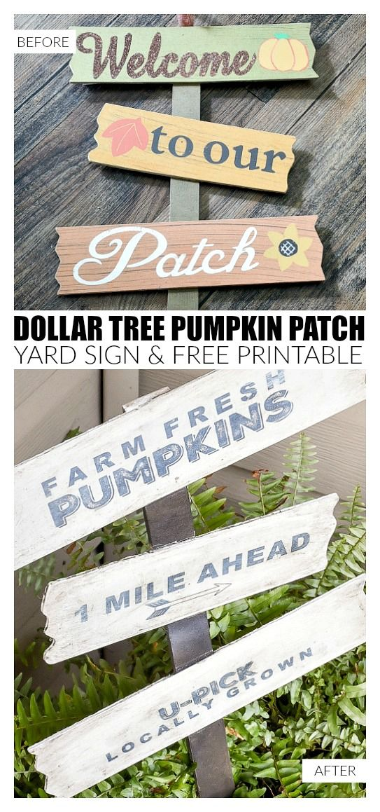 photo relating to Dollar Tree Application Printable known as Greenback Tree Pumpkin Patch Backyard Indication with No cost Printable