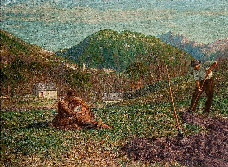 Primavera in Valle Vigezzo - Giovanni Battista Ciolina (1929)