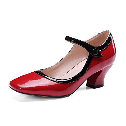 ENMAYER 赤い新しいファッション春夏秋の女性の牛革材料のパンプス34 ENMAYER https://www.amazon.co.jp/dp/B06Y2FR7MN/ref=cm_sw_r_pi_dp_x_LrG5ybTKQQR44