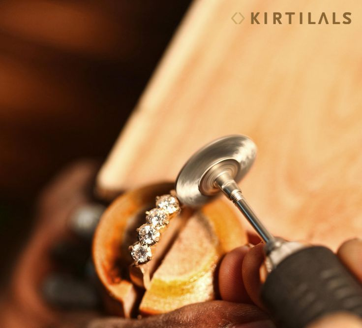 The art of making jewellery caliberated with perfection! #Kirtilals