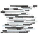 Modern Random Mix Steel - Glass - Ceramic I  EMT_123-MIX-SM $19