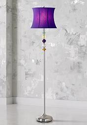 Purple Bijoux Floor Lamp - 67-Inch-H