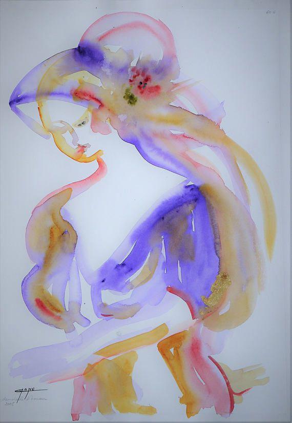 Art Original Grand Tableau Aquarelle Originale La Art Winsor