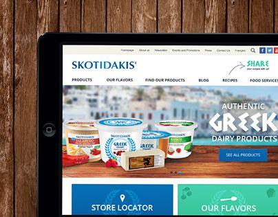 - Agency : Vortex Solution - 2014Website for the brand Skotidakis (Greek products)