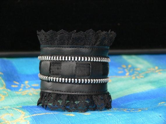 Bracelet Zipper par Creationa2cmieux sur Etsy, $20.00