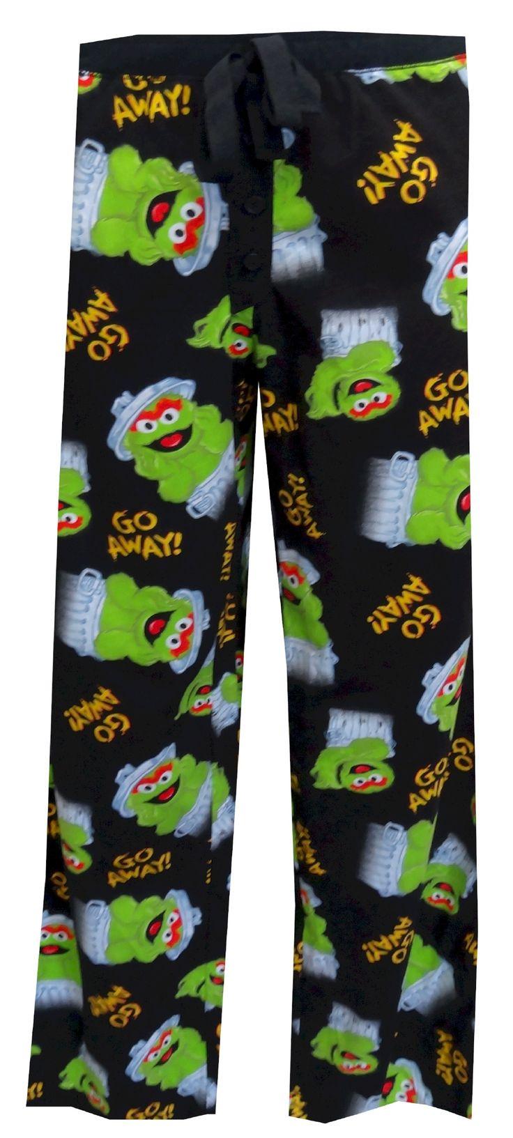 """Oscar the Grouch """"Go Away"""" Lounge Pants"""