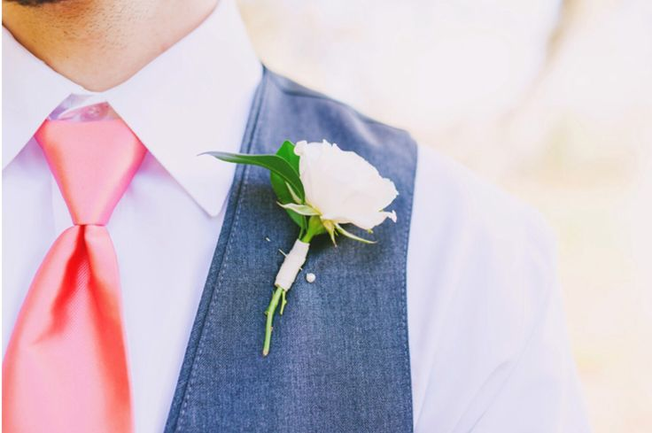 white spray rose makes the perfect boutonnière