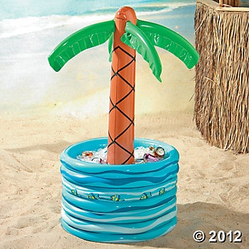 Inflatable Palm Tree In Pool Cooler for books or other learning materials - Beach/Luau Theme