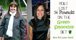How I lost 56 Pounds with the Green Smoothie Diet and Green Thickies.  Find out…