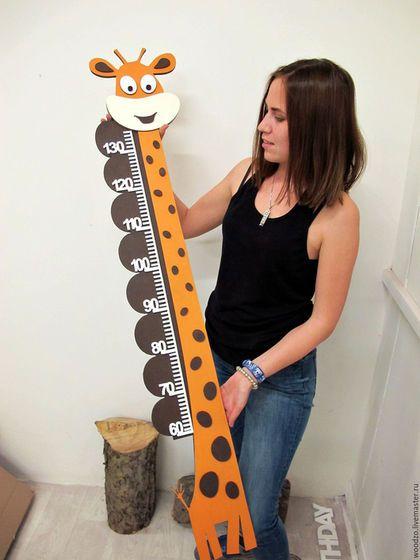 Детская ручной работы. Ярмарка Мастеров - ручная работа. Купить Ростометр жираф. Handmade. Комбинированный, Ростомер, ростометр, детская