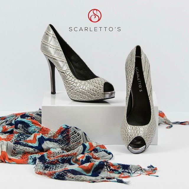 Look fab and be comfortable all day and night long in Scarletto's #PlatinumHeels 'Gabriel'! #LoveHeels #ShoeAddict