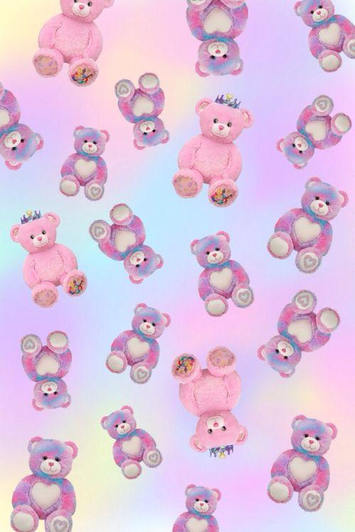 ◦ * ☾ ✩ * ◦ Pastel kawaii bears floating in Marshmallow World