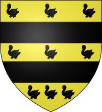 Blason de  Meslay (vidames de Chartres).-  Jean 1° de Parthenay épousa: * Marguerite de Meslay (Décédée le 26 mai 1326), fille de Guillaume V de Meslay, vidame de Chartres.- *Marie de Beaujeu le 14/1/1329, fille de Guichard VI le Grand de Beaujeu , seigneur des Dombes et de Jeanne de Genève. - * Jeanne Maingot, dame de Surgères,  fille de Guillaume Maingot, seigneur de Surgères.