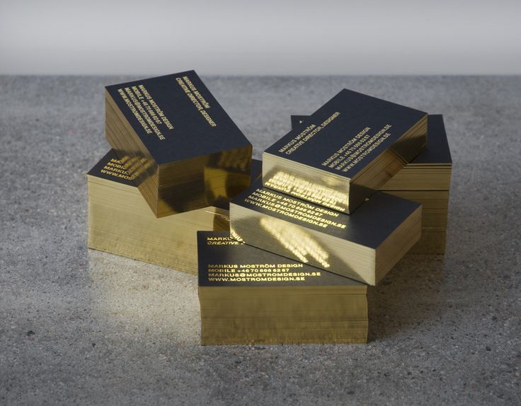 gold edge business cards!
