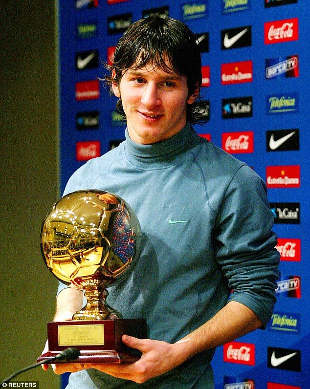 Lionel Messi has gone on to achieve great things since being recognised back in 2005