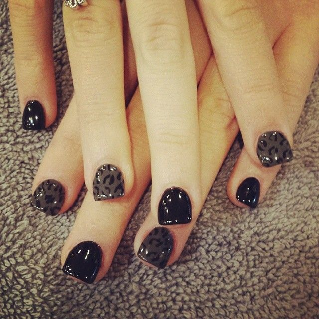 181 best nail ideas images on pinterest beautiful hair and hair black leopard nails prinsesfo Choice Image