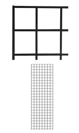 2' x 6' Black Gridwall & Wire Grid Panels for Retail | Store Supply