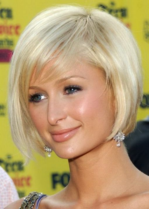 Paris Hilton hairstyles.  This short blonde bob cut looks great.  You can go messy and short this summer with this bob haircut.