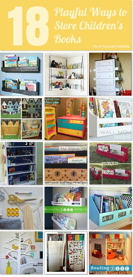 18 playful ways to store and organize children's books