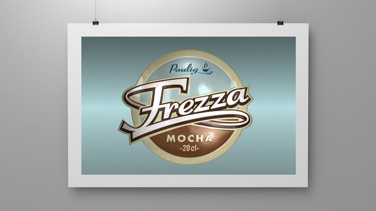 Branding for Frezza Mocha, a ready to drink coffee. (2001)