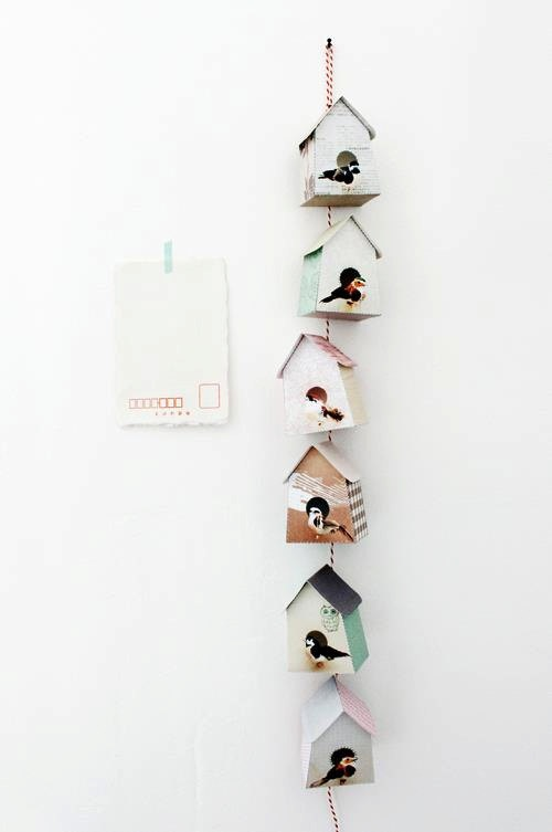 Paper Birdhouses by jimmycricket on Etsy