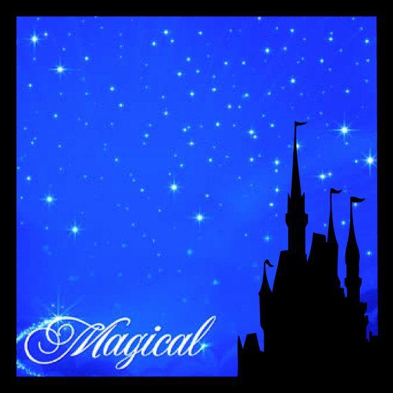 Die Cut Disney Castle Frame Overlay 12x12 By Oldpineshop