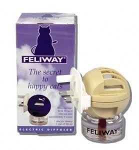 Difusor de Feliway. Tratamiento en base a feromonas para calmar stress en gatos.