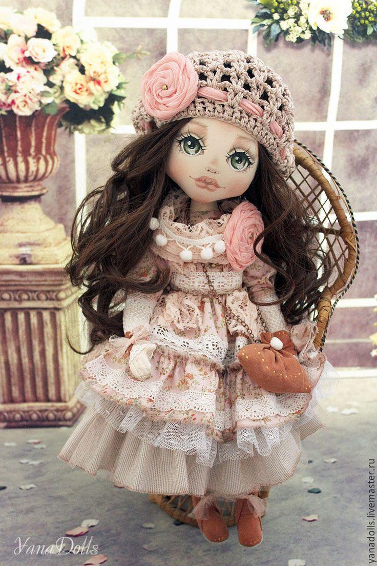 Купить Полина - бледно-розовый, кукла ручной работы, кукла, кукла в подарок, кукла текстильная