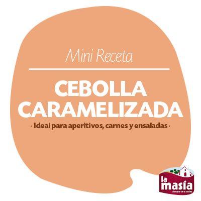 Hoy os traemos una mini #RECETA animada para enseñaros a preparar #CEBOLLA #CARAMELIZADA. Un complemento ideal para aperitivos, carnes y ensaladas. ¡A los fogones!