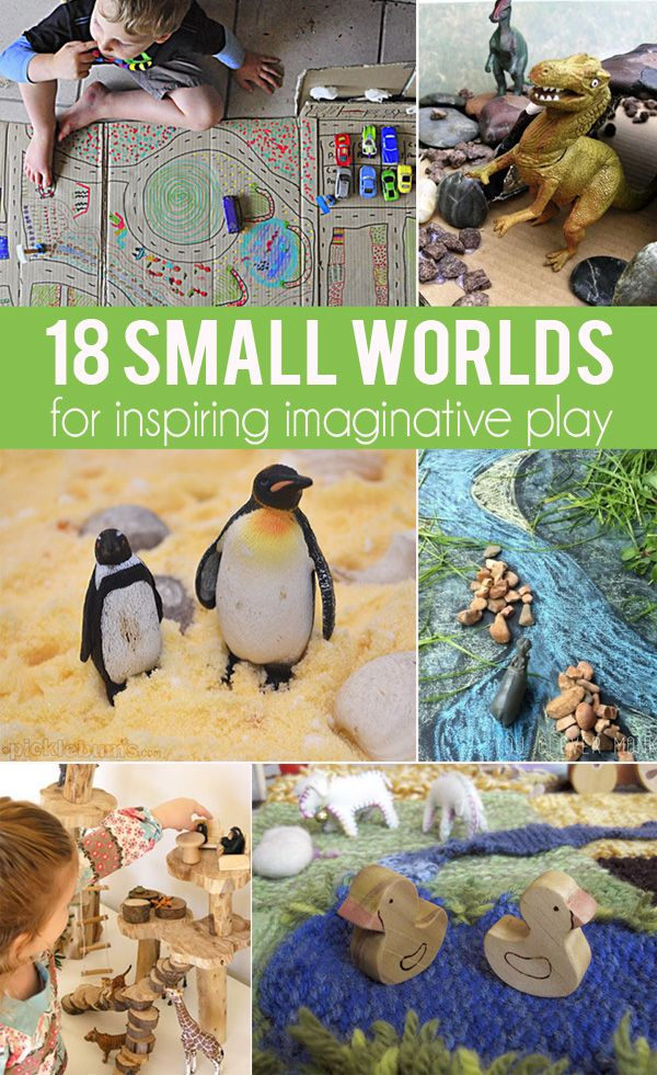 18 Small Worlds for Inspiring Creative, Imaginative Play | Childhood101 Repinned by Apraxia Kids Learning. Come join us on Facebook at Apraxia Kids Learning Activities and Support- Parent Led Group.