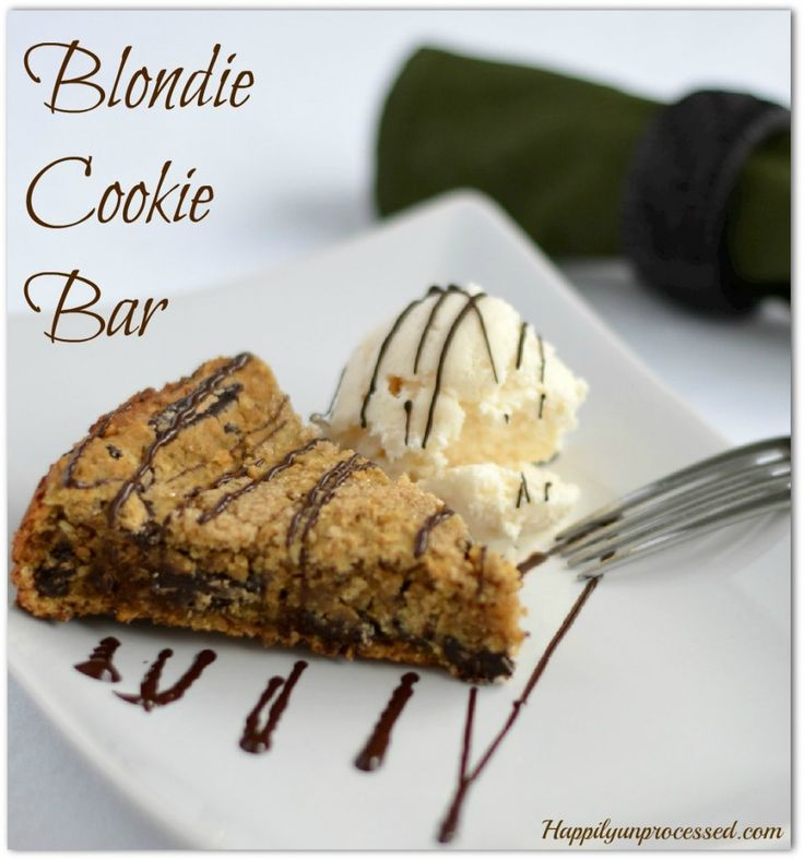 These Blondie Cookie Bars are UH-MAZING!!!!!!!  I added a scoop of homemade icecream and moaned the whole time I was eating it!