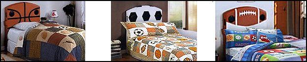 Sports themed Headboard is perfect for the young music lover. Kids' furniture allows your child to listen to their favorite songs while in bed. Features double-mounted speakers of an MP3 player. Padded upholstered headboard is basketball-themed. furniture for kids sports bedroom theme,  soccer themed headboards, soccer decor,  football themed headboard, football decor