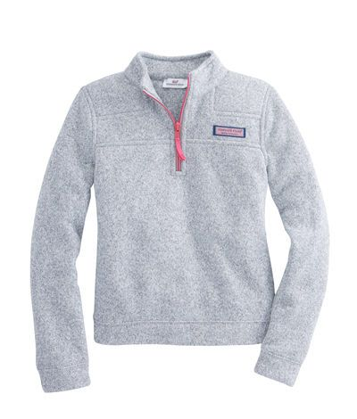 vineyard vines : Girls Sweater Fleece Shep Shirt