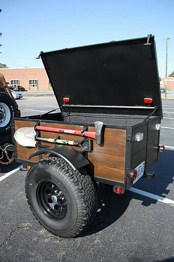 Love the wood on this offroad trailer