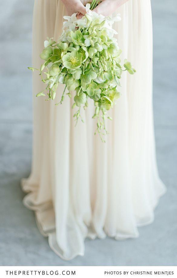 Green bridal bouquet. #flowers #wedding #bride