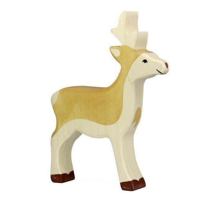 Figurine en Bois - Jeune Cerf