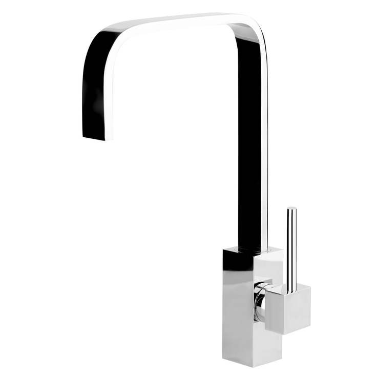 san marco cubic designer kitchen tap ~ slim curved square spout for soft contempory feel