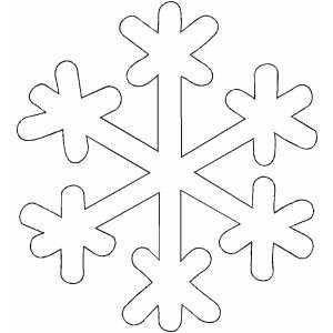 Fiocco di neve da stampare