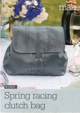 DIY Spring Racing Clutch Bag! View here: http://www.lincraft.com.au/spring-racing-clutch-bag