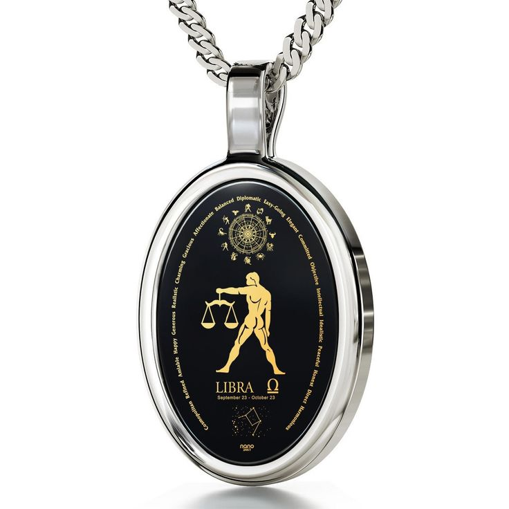 The World of Libra, 925 Sterling Silver, Onyx