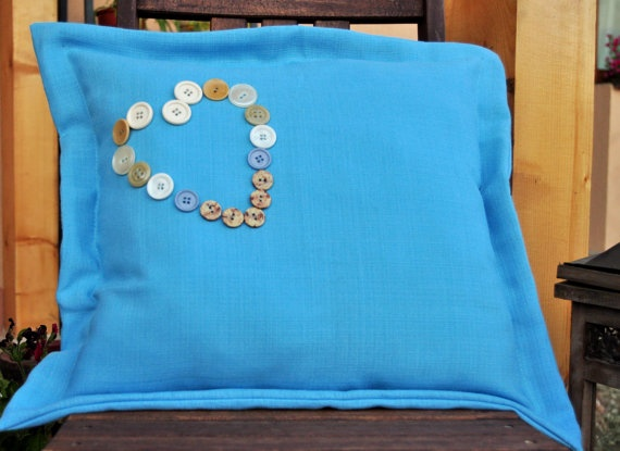 Heart on the sea pillow case by AliCards on Etsy, $16.00
