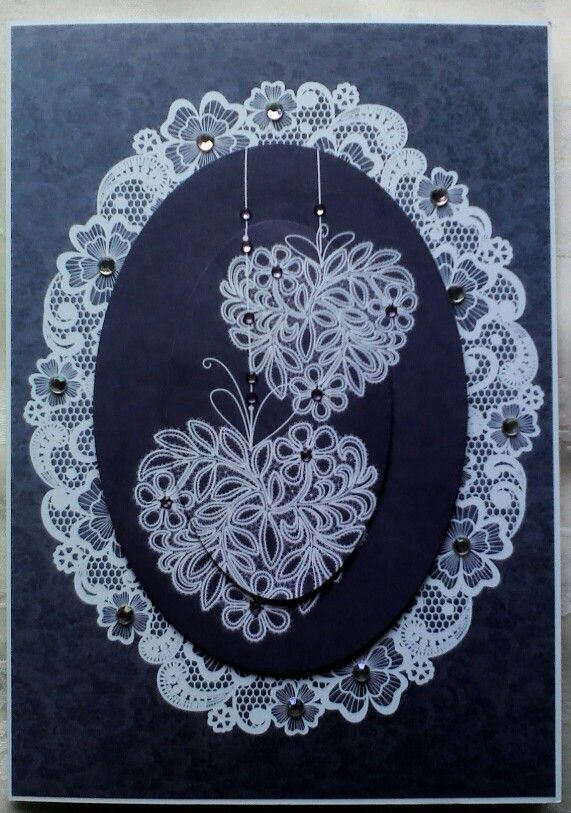 Kanban Lovely in Lace collection birthday card.