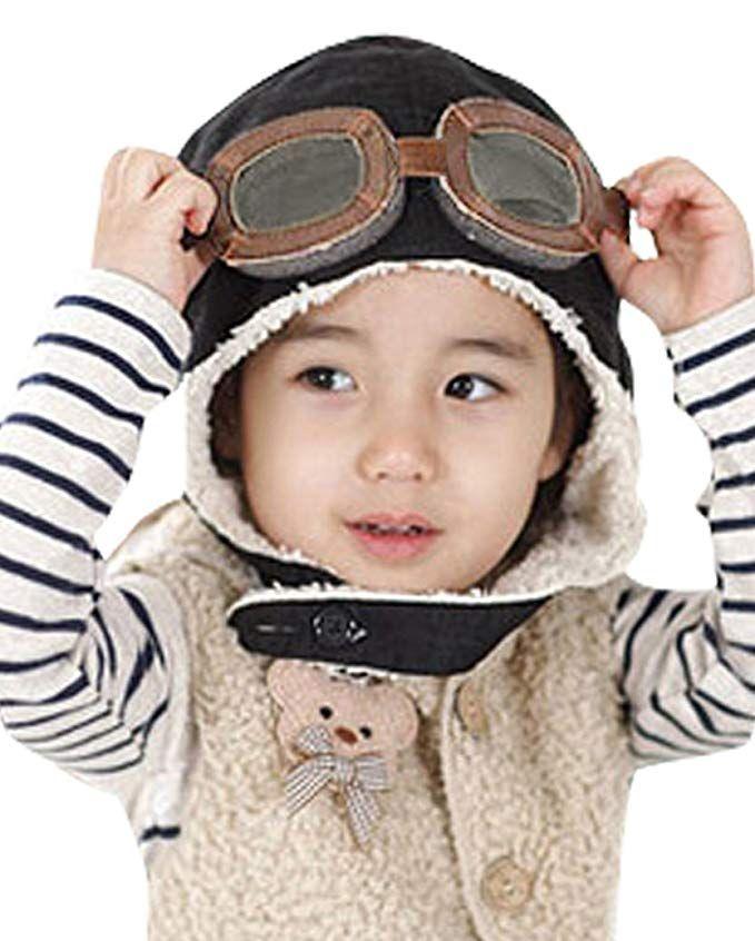 5d76ce8f0 Little Boys Baby Fleece Lined Aviator Pilot Earflap Hat Review ...
