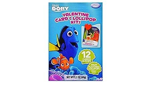 Finding Dory Valentine Card & Lolipop Kit 12 Cards and Pops