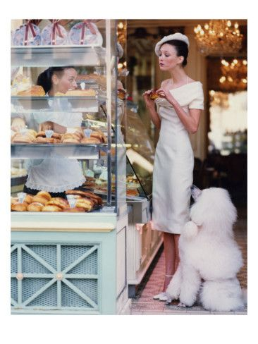 Wonderful photo taken at Patisserie Cador in Paris by Arthur Elgort.