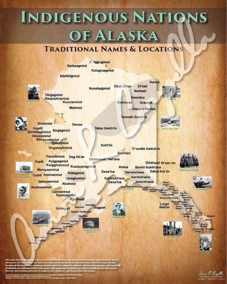 Alaska - Indigenous Nations of Alaska Map - Native and Common Names