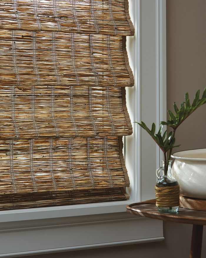 Let nature be a part of your decor with Provenance® Woven Wood Shades ♦ Hunter Douglas Window Treatments available at Budget Blinds of SW Lubbock