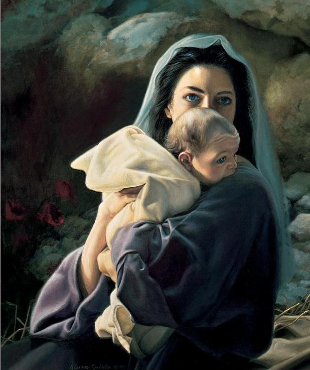 Baby Jesus - Nativity Scene Paintings of Baby Jesus                                                                                                                                                                                 Mais